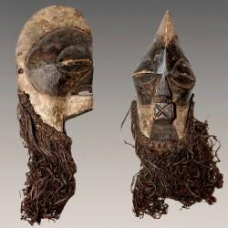 Ancien masque Kifwébé de famille