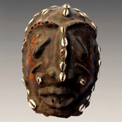 Masque Bamoun ancien carapace de tortue