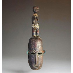 Beau masque Koulango avec cimier