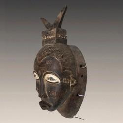 Masque Gouro ancien porté