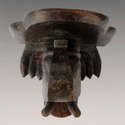 Tablette ancienne éléphant en bois
