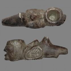 Ancienne pipe NTadi Bakongo de divination
