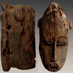 Masque de famille Baoulé ancien