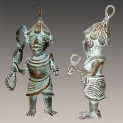 Oba guerrier en bronze