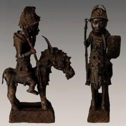 Cavalier Oba Bronze ancien Bénin
