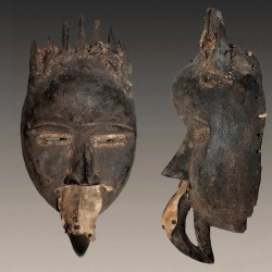 Masque Dan Mahou Koma Su ancien et porté