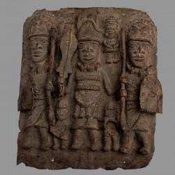Ancienne plaque du Bénin en bronze