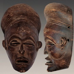 Masque Tchokwé Cihongo porté