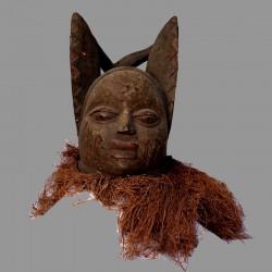 Masque casque Yoruba Gélédé ancien