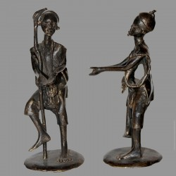 Statuette berger Dogon en bronze