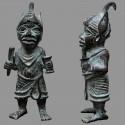 Oba en bronze représenté en guerrier