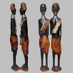 Statuettes couple éthiopien