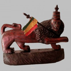 Lion de Judée en bois peint