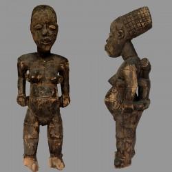 Statuette maternité Mangbetu ancienne