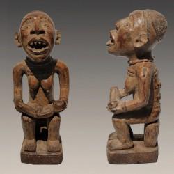 Statuette africaine Nkisi Bakongo Mère et enfant