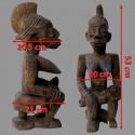Statuette Afo Okeshi ancienne mesures