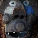 Masque Bulu du Cameroun gros plan