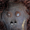 Masque Bulu du Cameroun gros plan interieur