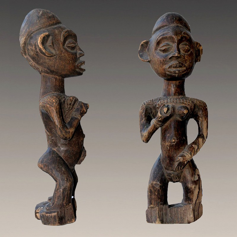Statuette africaine ancienne Yombe