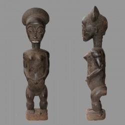 Statuette africaine ancienne fecondite Baoule