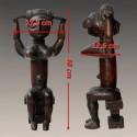 Statuette africaine Reine Attie mesures