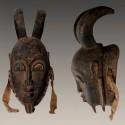 Masque Yaoure ancien a cornes