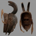 Masque Yaoure ancien a cornes detail 1