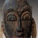 Masque Yaoure ancien a cornes detail 3