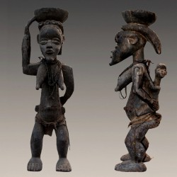 Statuette africaine maternite Dan Bassa