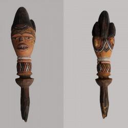 Poupee africaine marotte Kuyu ancienne
