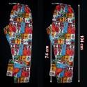 Pantalon africain en coton imprime style patchwork
