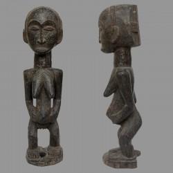 Ancienne statuette africaine fecondite Luba