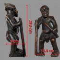 Statuette africaine Tikar Ancetre chasseur cueilleur dimensions