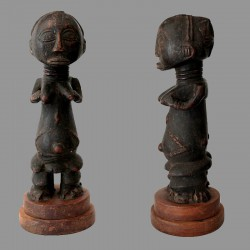 Statuette africaine fecondite Hemba ancienne