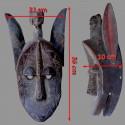 Masque Bamana lion dimensions