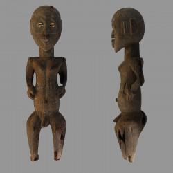 Statuette anthropomorphe poteau Gurounsi