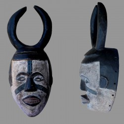 Masque Ibibio a cornes