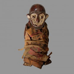 Statuette Bulu singe en terre cuite