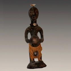 Statuette en Janus de mariage Songyé Luba