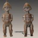 Statuette reliquaire M'Bété en Janus